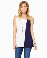 Charming charlie Asymmetrical Colorblock Tank