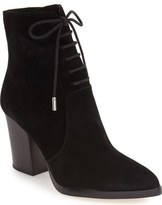 Marc Fisher Aaliyah Pointy Toe Lace-Up Bootie (Women)