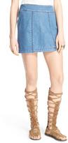 Free People 'Zip It' Denim Miniskirt