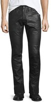 John Varvatos Coated Straight-Leg Denim Jeans, Black