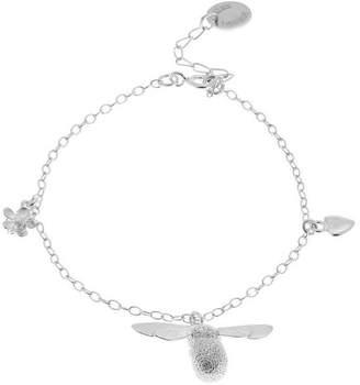 Alex Monroe Silver Baby Bumblebee Flower Charm Bracelet
