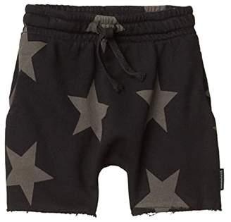 Nununu Rounded Star Sweatshorts (Infant/Toddler/Little Kids) (Black) Boy's Shorts