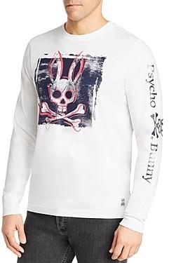 Psycho Bunny Lanyard Cotton Logo Long-Sleeve Tee