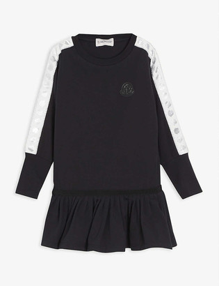 Moncler Frilled skirt cotton dress 4-14 years