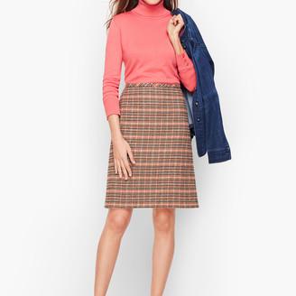 Talbots Plaid Wool A-Line Skirt