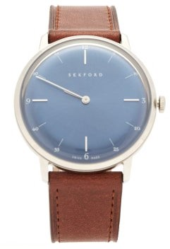 Sekford Watches - Type 1a Stainless-steel And Saffiano-leather Watch - Mens - Blue
