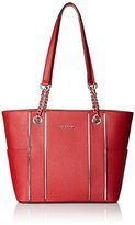 Calvin Klein Saffiano Leather Chain Tote