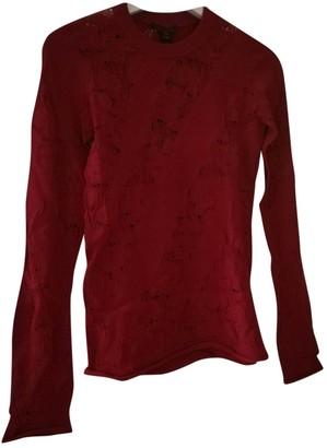 Louis Vuitton Red Viscose Knitwear