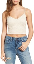 Hinge Women's Lace Crop Camisole
