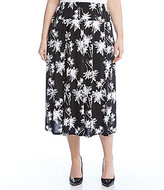 Karen Kane Plus Midi Palm Print Skirt