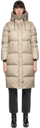 Mackage Taupe Down Maxi Foil Shield Eliane Coat