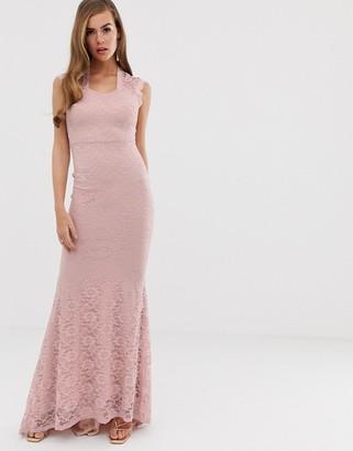 Club L lace detail fishtail maxi dress