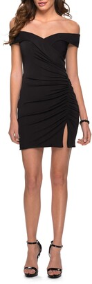 La Femme Off The Shoulder Sheath Dress
