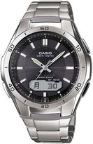 atomic watches for men shopstyle casio mens black dial stainless steel atomic time solar watch wvam640d 1a