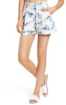J.o.a. Women's High Waist Linen Shorts