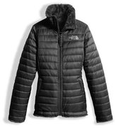 The North Face Girls' Reversible Mossbud Swirl Jacket, Black, Size XXS-XL