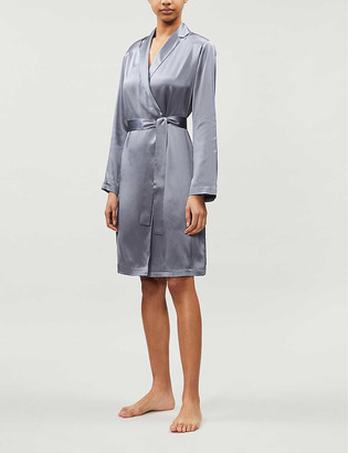 La Perla Notch-lapel silk dressing gown