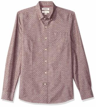 Goodthreads Men's Slim-fit Long-sleeve Polka Dot Homespun Chambray Shirt Shirt