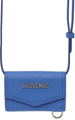 Jacquemus Le Porte Azur Leather Crossbody Bag