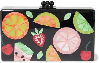 Edie Parker Jean Fruit Cocktail Acrylic Box Clutch