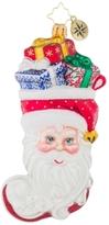 Christopher Radko Stuffed Santa Ornament