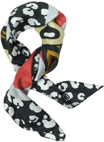 Moschino Teddy Bear and Animal Print Twill Silk Square Scarf