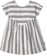 Huxbaby HUXBABY Stripe Yoke Dress (Infant/Toddler) (Navy Stripe) Girl's Clothing