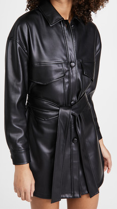 Line & Dot Kortney Vegan Leather Dress