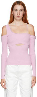 Jacquemus Pink La Maille Figuerolles Sweater