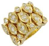 Cartier 18K Yellow Gold Diadea Diamonds Ring Size 5.75