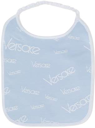 Versace logo print bib