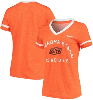 Nike Women's Orange Oklahoma State Cowboys Performance Cotton Slub Retro Fan V-Neck T-Shirt