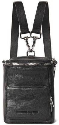 McQ Convertible Pebbled-leather Backpack