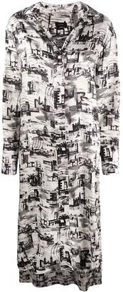 Joseph Gaya montage-print shirt dress