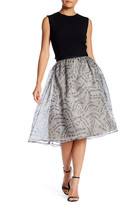 Alice + Olivia Benita Silk Mid-Length Pouf Skirt