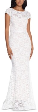 Xscape Evenings Lace Cap-Sleeve Gown