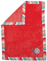 Trend Lab Pom Pom Play Embroidered Coral Fleece Baby Blanket