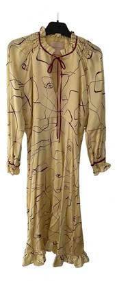 Roksanda Yellow Silk Dresses