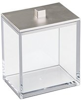 InterDesign Clarity Canister for Beauty Products, Bathroom Vanities - Clear/Brushed