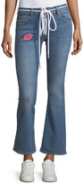 Off-White Cropped Zip-Front Denim Jeans