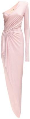Alexandre Vauthier Crystal Asymmetric Long Dress