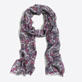J.Crew Printed woven scarf