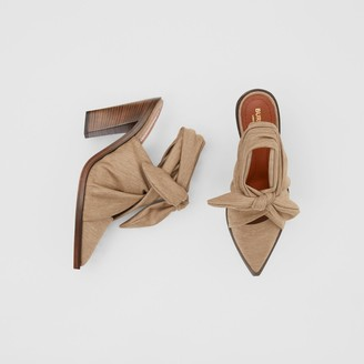 Burberry Scarf Tie Detail Technical Wool Point-toe Mules
