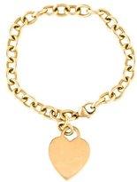 Tiffany & Co. 18K Heart Tag Charm Bracelet