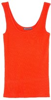 Petit Bateau Women's V-neck tank top in light ribbed cotton