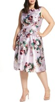 Chi Chi London Marilyn Floral Print Satin Cocktail Dress