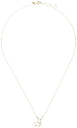 Sarah & Sebastian 10kt yellow gold diamond Celestial Virgo necklace