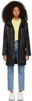 Stutterheim Black Ekeby Lightweight Long Raincoat
