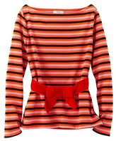 Petit Bateau Womens heavy jersey breton top with velvet belt by Monsieur Christian Lacroix
