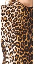 3.1 Phillip Lim Leopard Sweatshirt Dress